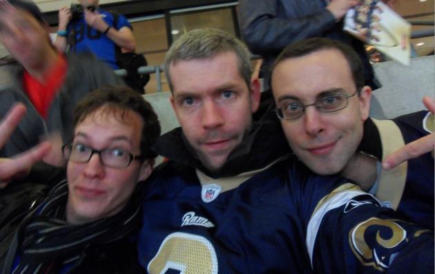Les coachs Khelby, Castor et Kadu-C étaient au rendez-vous à Wembley pour encourager les Rams!